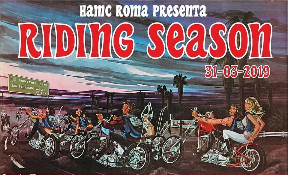 Hells Angels MC Roma Riding Season 31 marzo 2019